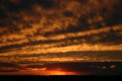 заход солнца illinois Стоковое Изображение