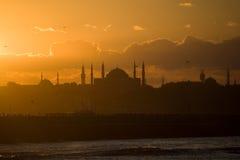 заход солнца istanbul Стоковая Фотография RF