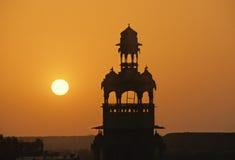 заход солнца jaisalmer Стоковые Изображения