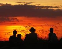 заход солнца kakadu Стоковое Фото