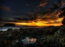 заход солнца kata Стоковая Фотография