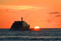 Заход солнца Key West Стоковая Фотография RF