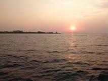 Заход солнца Kos Стоковые Изображения