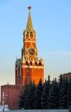 заход солнца kremlin moscow Стоковые Фото