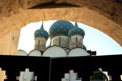 заход солнца kremlin suzdal Стоковое Изображение