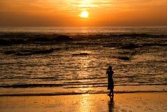 заход солнца lak khao Стоковое Изображение RF