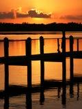 заход солнца largo золотистого ключа Стоковые Изображения RF