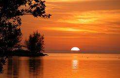 заход солнца largo florida ключевой Стоковые Фотографии RF