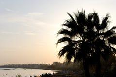 заход солнца limassol Стоковые Фото