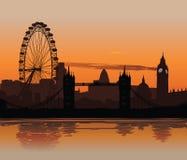 заход солнца london Стоковое Фото