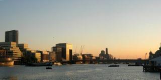 заход солнца london Стоковые Фотографии RF