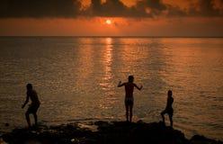 Заход солнца Malecon Стоковые Изображения RF