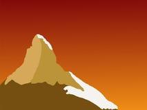 заход солнца matterhorn Стоковые Изображения