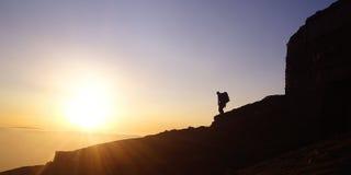 заход солнца moel Стоковое Изображение RF