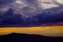 заход солнца mt monadnock Стоковые Фото