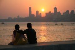 заход солнца mumbai Стоковые Фото