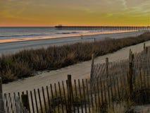 Заход солнца Myrtle Beach, Южной Каролины стоковое изображение