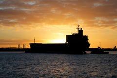 заход солнца newcastle Стоковое фото RF