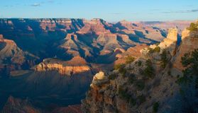 заход солнца np каньона грандиозный Стоковые Изображения RF