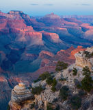 заход солнца np каньона грандиозный Стоковые Фото