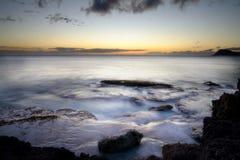 заход солнца oahu Стоковые Изображения
