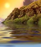 заход солнца oahu Стоковые Изображения RF