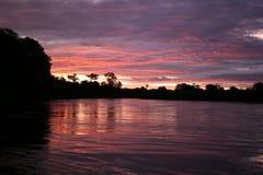 заход солнца okavongo Стоковое Фото