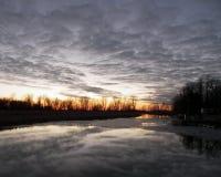 заход солнца ontario входа Стоковое фото RF