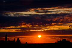 заход солнца ottawa Стоковое Фото