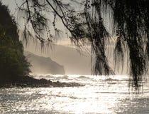 заход солнца pali na свободного полета Стоковое Изображение RF