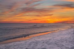 Заход солнца Pensacola Стоковые Фотографии RF