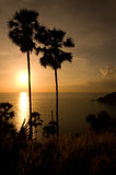 заход солнца phromthep плащи-накидк Стоковое Изображение