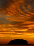 заход солнца phuket Стоковые Фото