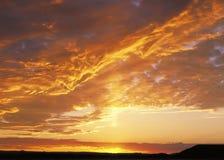 заход солнца powell озера Стоковая Фотография RF