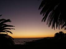 заход солнца punta carretas Стоковые Фото