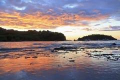 Заход солнца Punta Gorda Стоковое фото RF