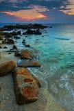 заход солнца redang острова Стоковые Фото
