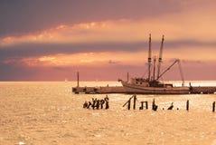 заход солнца riviera maya Стоковая Фотография RF