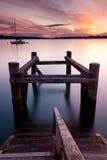заход солнца russell стоковое фото