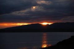 заход солнца s Шотландии Стоковые Изображения