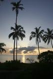заход солнца saadani 234 национальных парков стоковая фотография