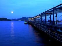 заход солнца sai kung Hong Kong Стоковая Фотография