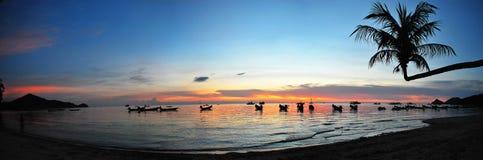 заход солнца sairee пляжа Стоковые Фотографии RF