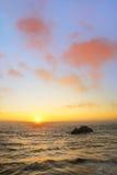 заход солнца san океана francisco пляжа стоковая фотография rf