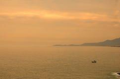 заход солнца saquarema береговой линии Стоковые Фотографии RF