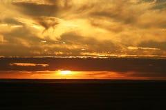 заход солнца saskatchewan Стоковое Фото