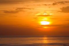 Заход солнца Seascape красивейший Стоковое фото RF