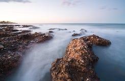 заход солнца seascape Стоковое фото RF
