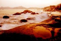 заход солнца seashore guangdong фарфора taishan Стоковое Изображение