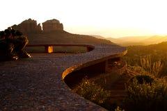 заход солнца sedona Стоковое фото RF